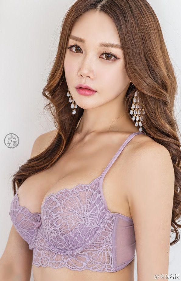韩国风妆容内衣美女
